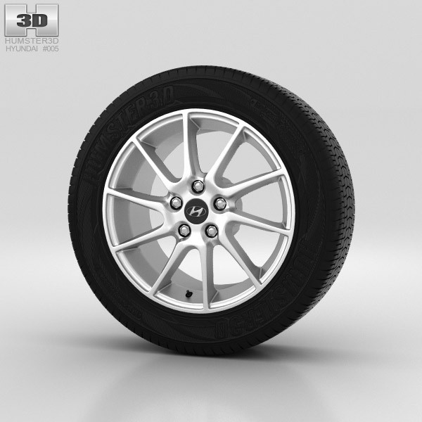 Hyundai Elantra Wheel 17 inch 002 3d model
