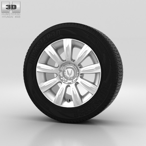 Hyundai Equus Wheel 17 inch 001 3d model
