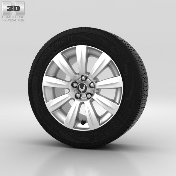 Hyundai Equus Wheel 18 inch 001 3d model