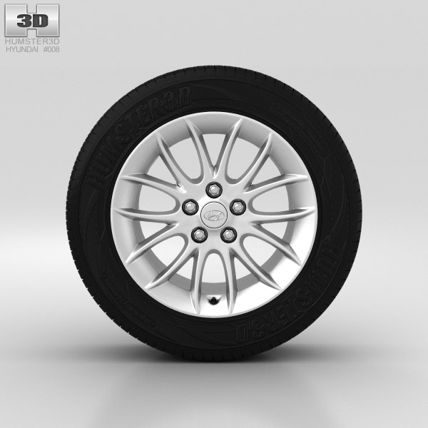 Hyundai Genesis Wheel 17 inch 001 3d model