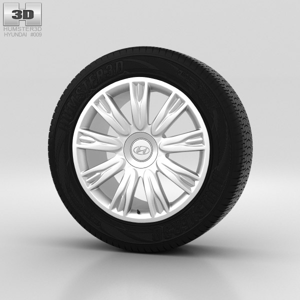 Hyundai Genesis Wheel 18 inch 001 3d model