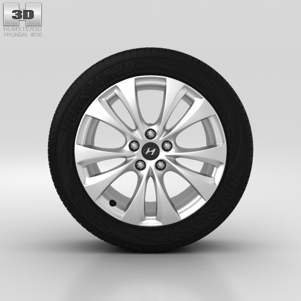 Hyundai Grandeur Wheel 18 inch 001 3d model