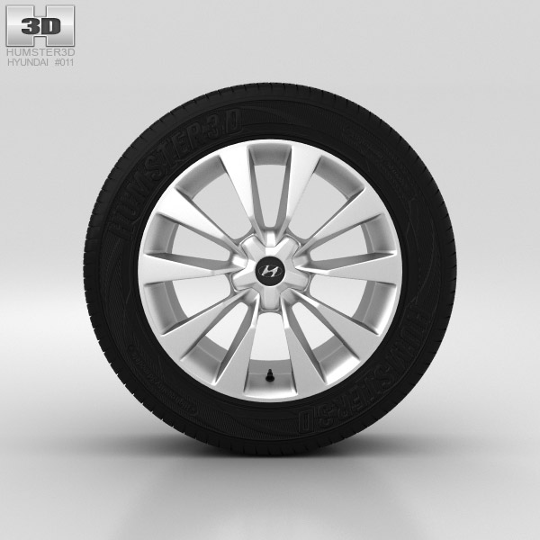Hyundai Grandeur Wheel 19 inch 001 3d model