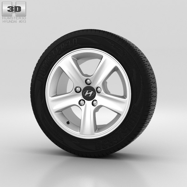 Hyundai i30 Wheel 15 inch 002 3d model