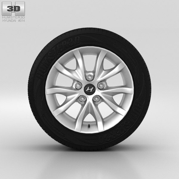 Hyundai i30 Wheel 16 inch 001 3d model