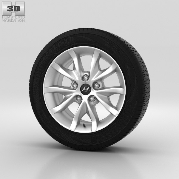 Hyundai i30 Wheel 16 inch 001 3d model