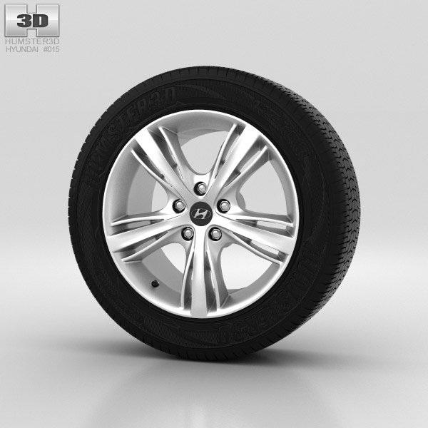 Hyundai i30 Wheel 17 inch 001 3d model