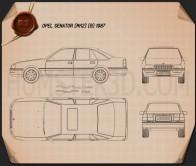 Opel Senator (B) 1987 Blueprint