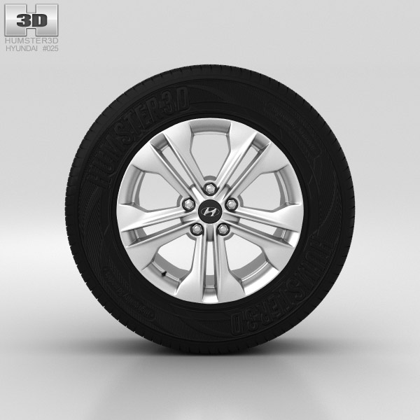 Hyundai Santa Fe Wheel 17 inch 001 3d model