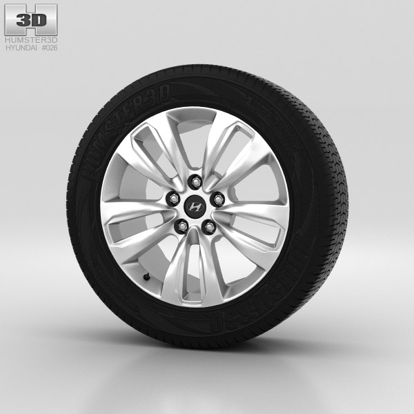 Hyundai Santa Fe Wheel 18 inch 001 3d model
