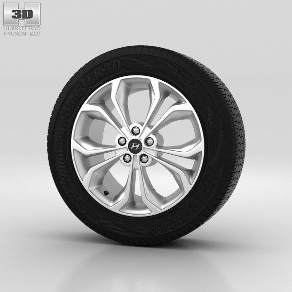 Hyundai Santa Fe Wheel 19 inch 001 3d model