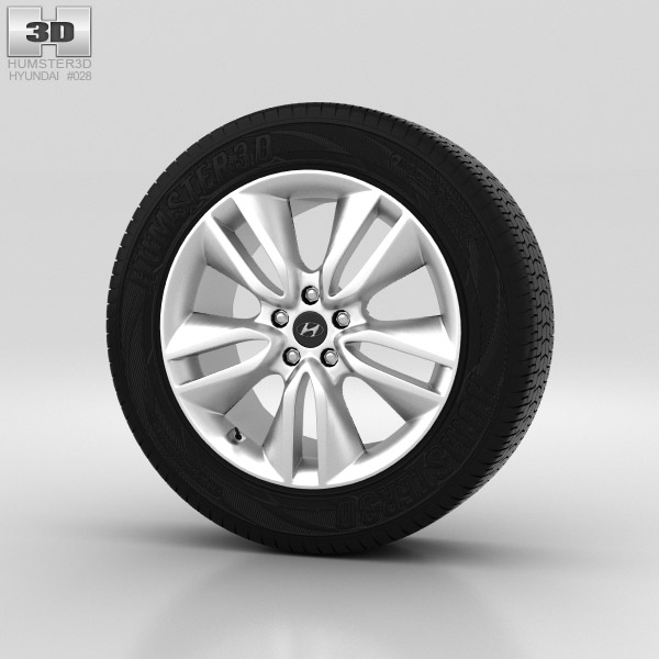 Hyundai Santa Fe Wheel 19 inch 002 3d model