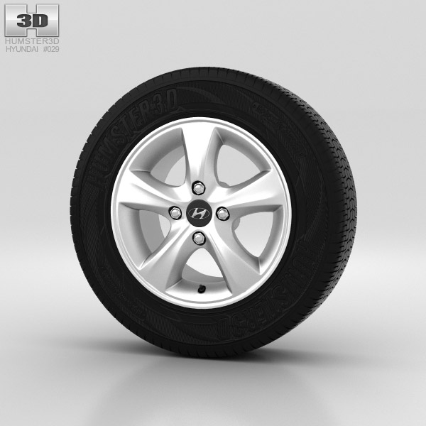 Hyundai Solaris Wheel 14 inch 001 3d model