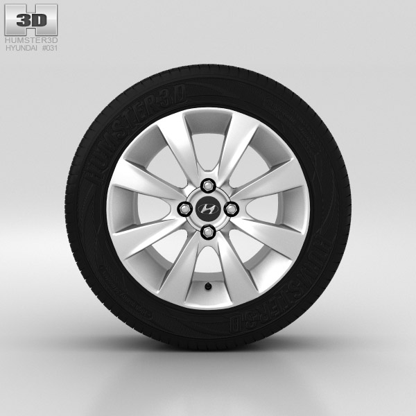 Hyundai Solaris Wheel 16 inch 001 3d model