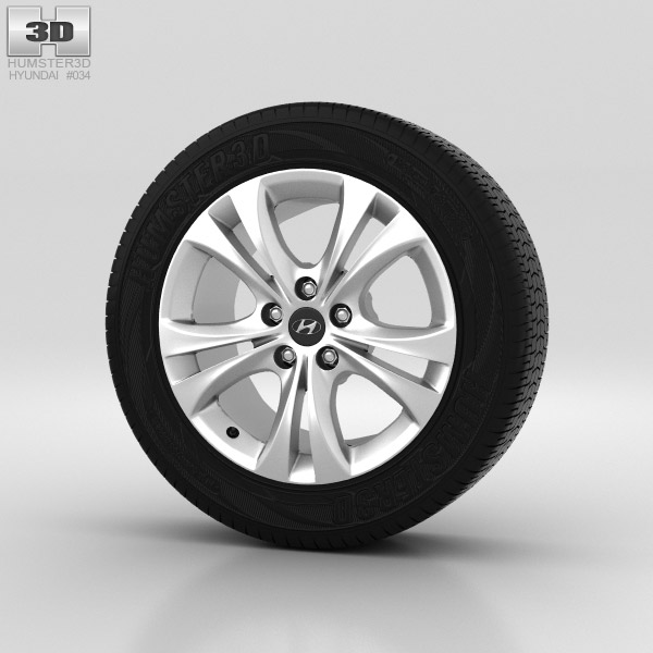 Hyundai Sonata Wheel 18 inch 001 3d model