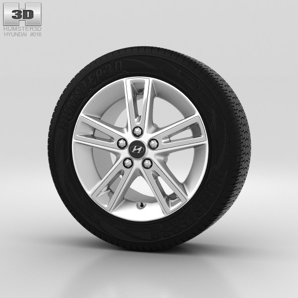 Hyundai i30 Wheel 17 inch 002 3d model