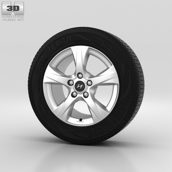 Hyundai i40 Wheel 16 inch 001 3d model