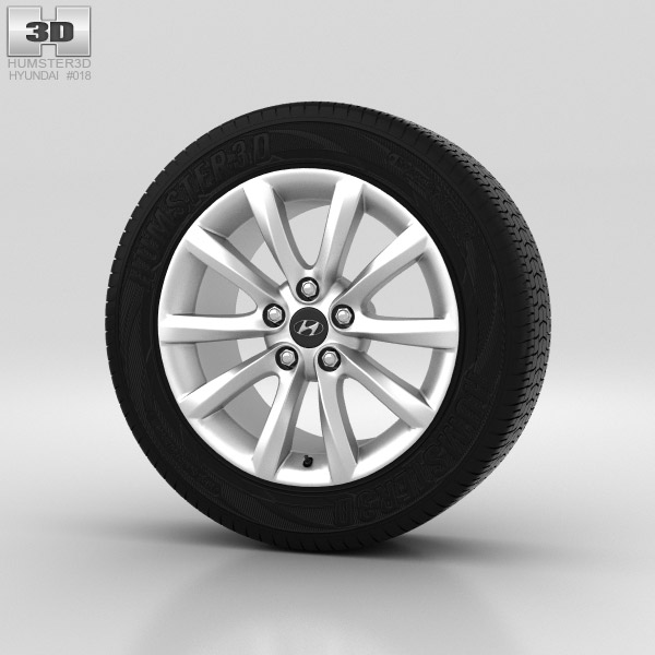 Hyundai i40 Wheel 17 inch 001 3d model