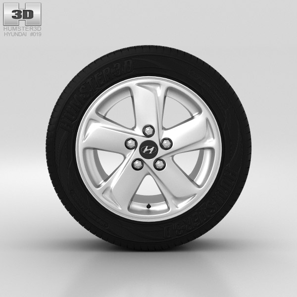 Hyundai ix35 Wheel 16 inch 001 3d model