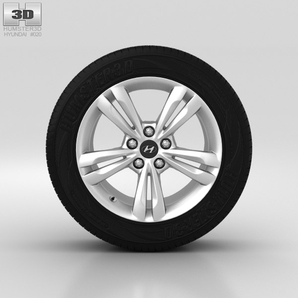 Hyundai ix35 Wheel 17 inch 001 3d model