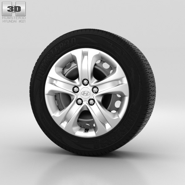 Hyundai ix35 Wheel 17 inch 002 3d model