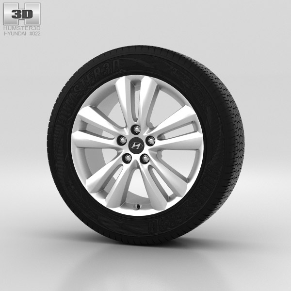 Hyundai ix35 Wheel 18 inch 001 3d model