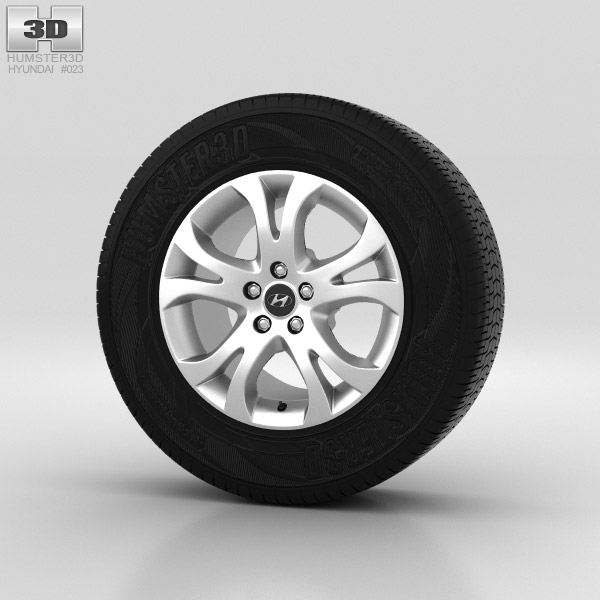 Hyundai ix55 Wheel 17 inch 001 3d model