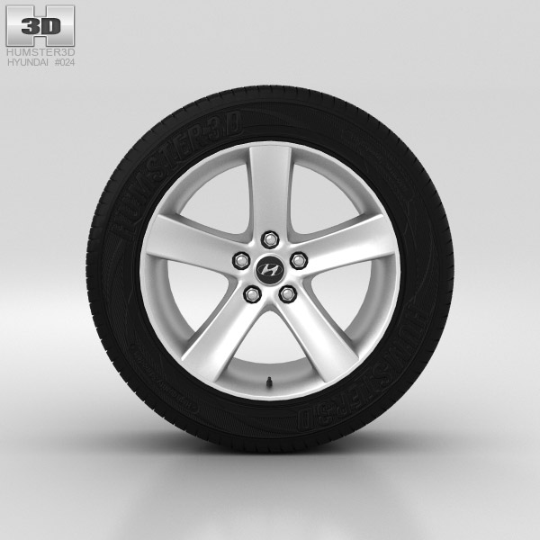 Hyundai ix55 Wheel 18 inch 001 3d model