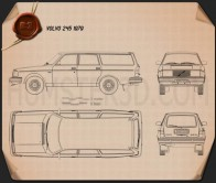 Volvo 245 wagon 1979 Blueprint