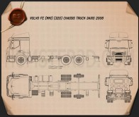 Volvo FE Chassis Truck 2006 Blueprint