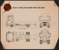 Volvo FL Chassis Truck 2006 Blueprint