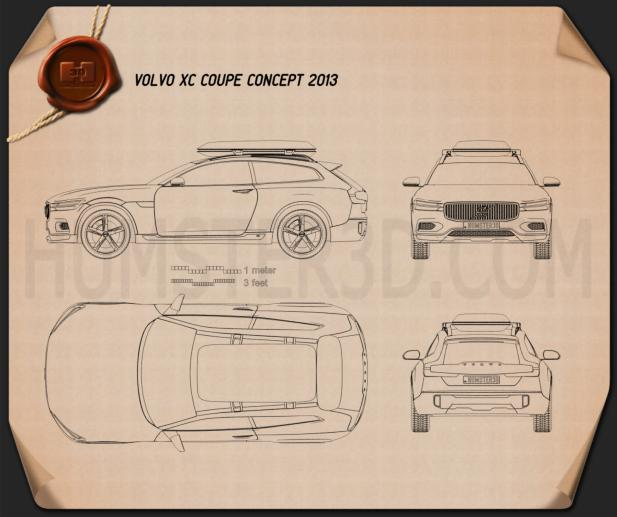 Volvo XC Coupe 2013 Blueprint