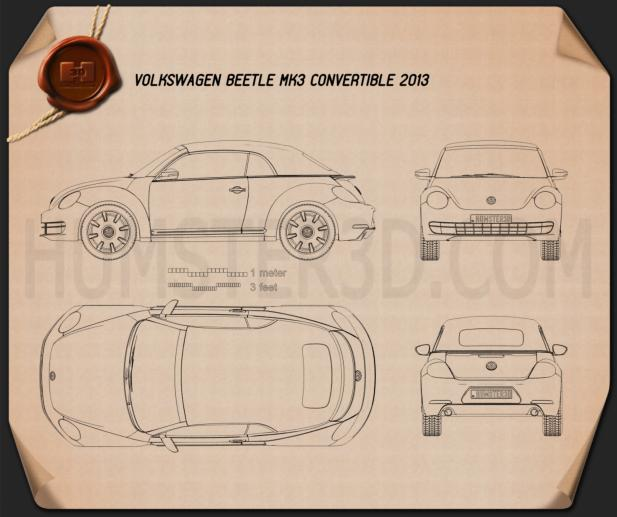 Volkswagen Beetle convertible 2013 Blueprint