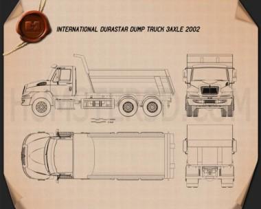 International DuraStar Dump Truck 3-axle 2002 Blueprint