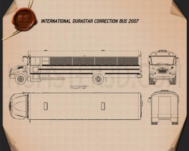 International Durastar Correction Bus 2007 Blueprint