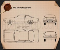Opel Manta (B) 1975 Blueprint