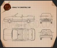 Renault 19 convertible 1988 Blueprint