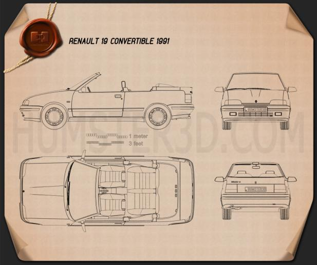 Renault 19 convertible 1988 Blueprint