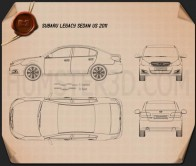 Subaru Legacy sedan US 2011 Blueprint