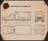 Dodge Ram LAFD Paramedic 2014 Blueprint