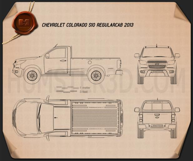Chevrolet Colorado S-10 Regular Cab 2013 Blueprint
