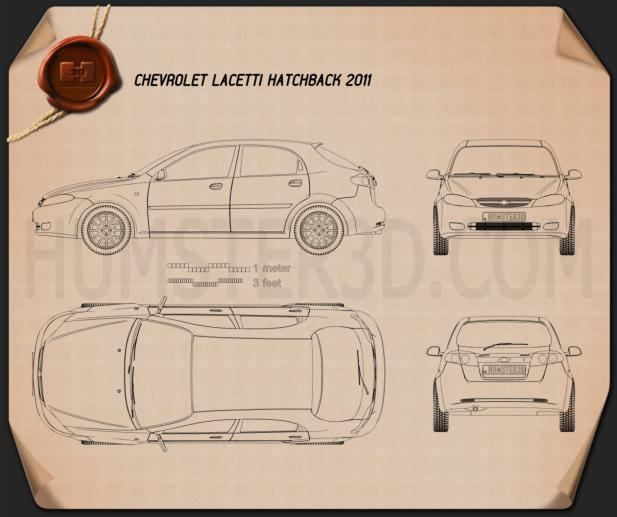 Chevrolet Lacetti Hatchback 2011 Blueprint