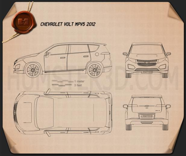 Chevrolet Volt MPV5 2012 Blueprint