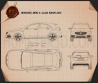 Mercedes-Benz A-class 2013 Blueprint