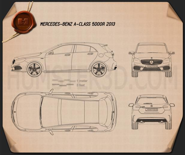 Mercedes-Benz A-class 2013 Blueprint