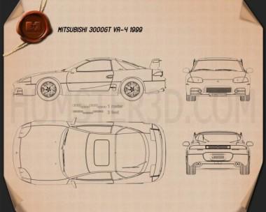 Mitsubishi 3000GT 1999 Blueprint