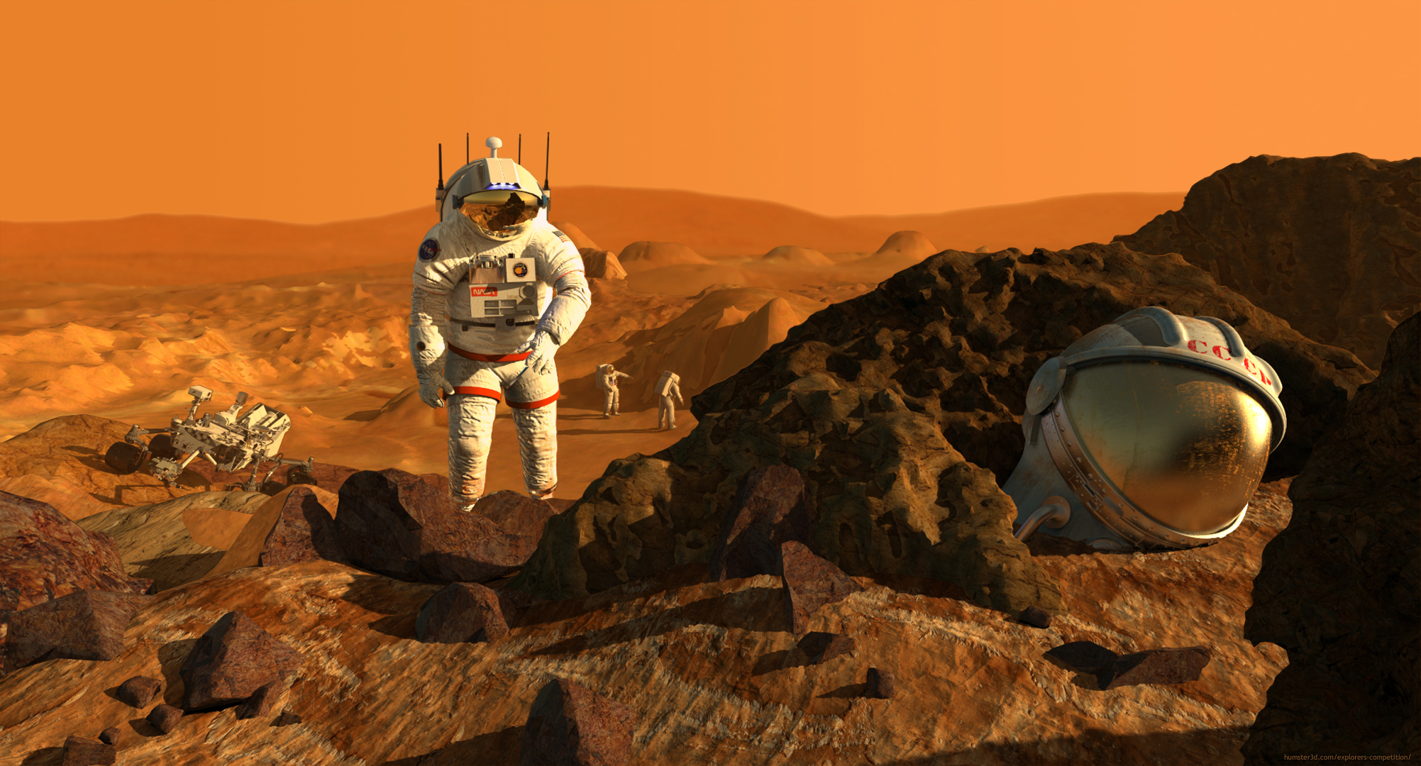 2021: First steps on Mars 3d art