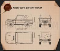 Mercedes-Benz G-Class Cabriolet 3-door 2011 Blueprint