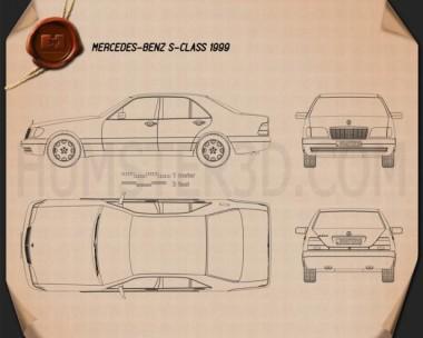 Mercedes-Benz S-class (W140) 1999 Blueprint