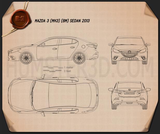 Mazda 3 sedan 2014 Blueprint